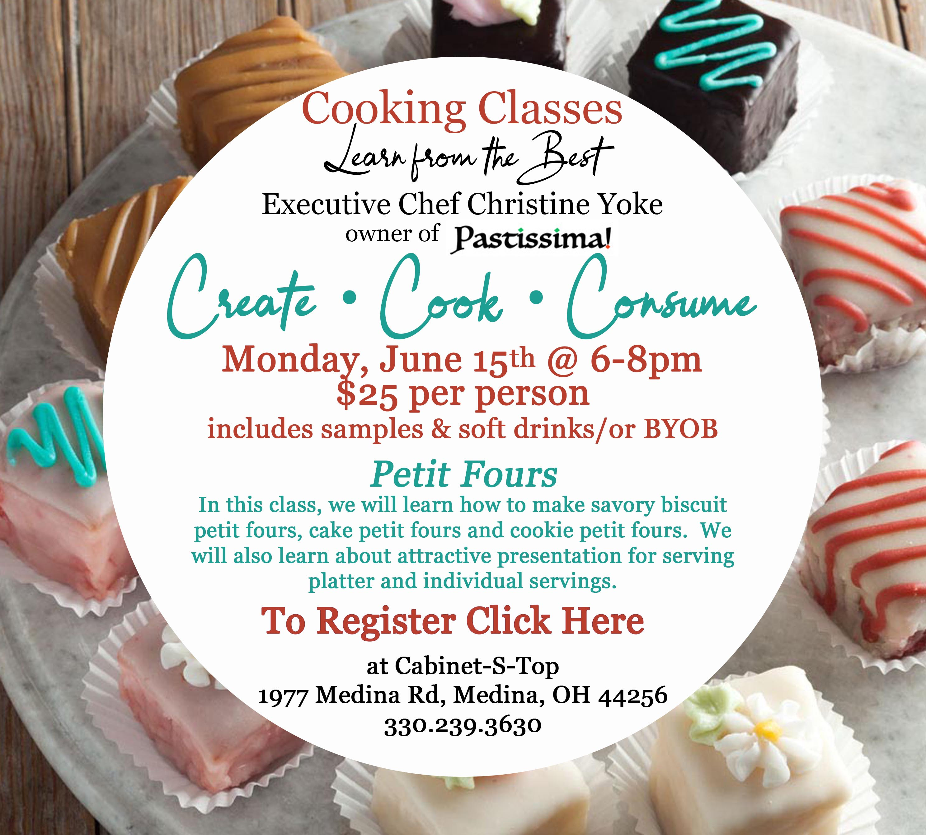 cooking class june click here to register