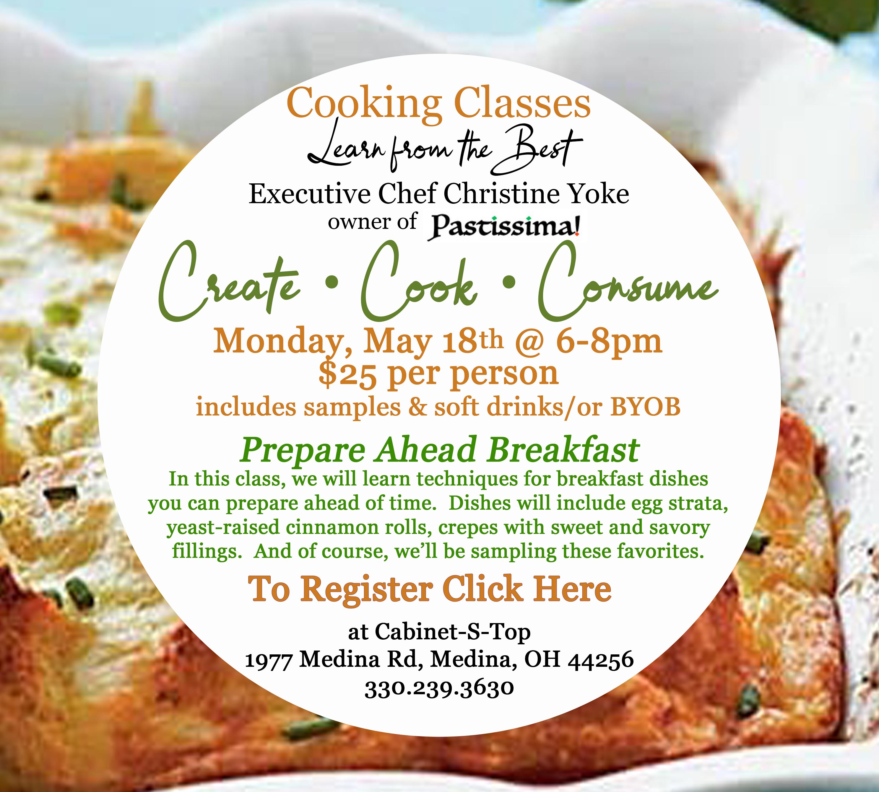cooking class may click here to register